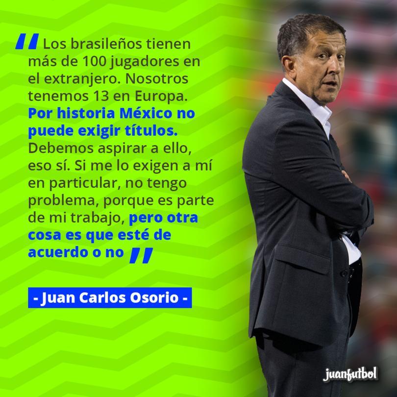 Juan Carlos Osorio cree que al quinto partido se debe llegar cuando se juegue en un mejor nivel y no como 'invitado'
