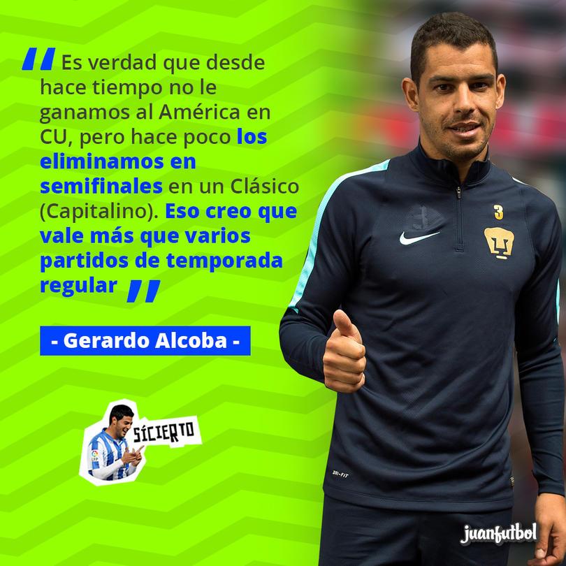Gerardo Alcoba recordó que hace poco le ganaron al América una eliminatoria