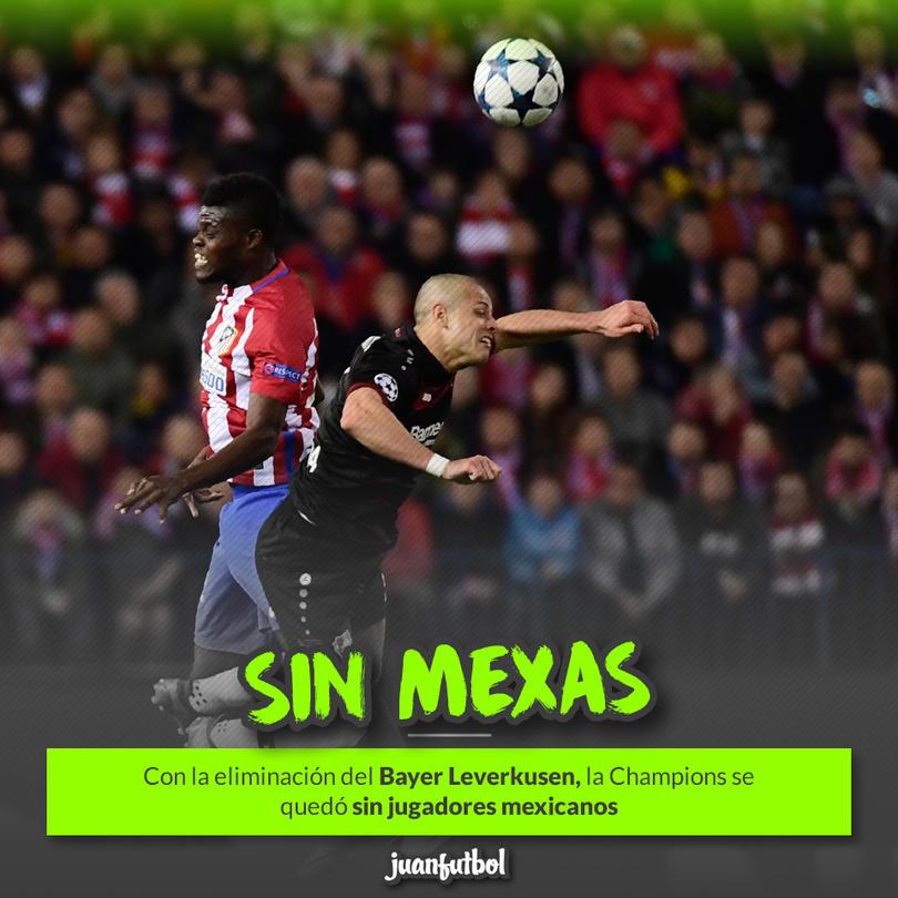 Javier Hernández no tuvo suerte ante el Atlético