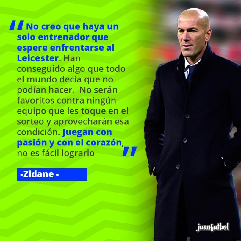 Zidane habló sobre el Leicester