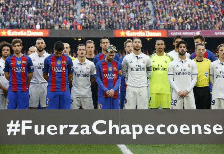 Barcelona y Real Madrid tras el accidente del Chapecoense