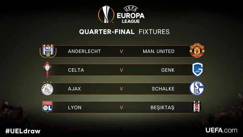 También quedaron definidos los cuartos de la Europa League