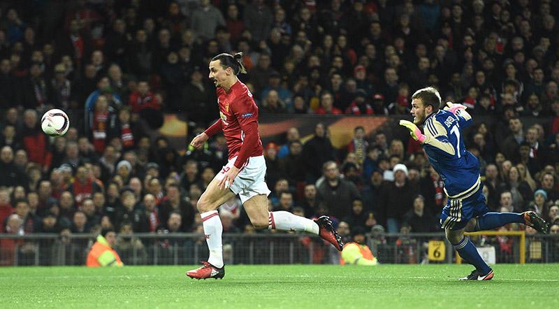 Ibra con el Manchester United
