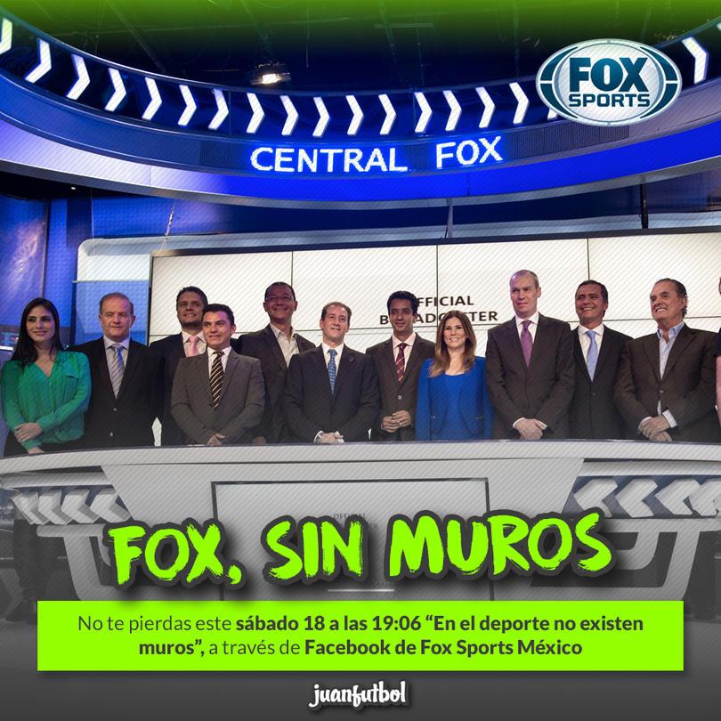 """Fox Sports transmitirá el concepto """"En el deporte no existen muros"""""""