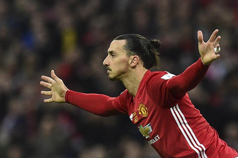 Zlatan con el Manchester United de Mourinho