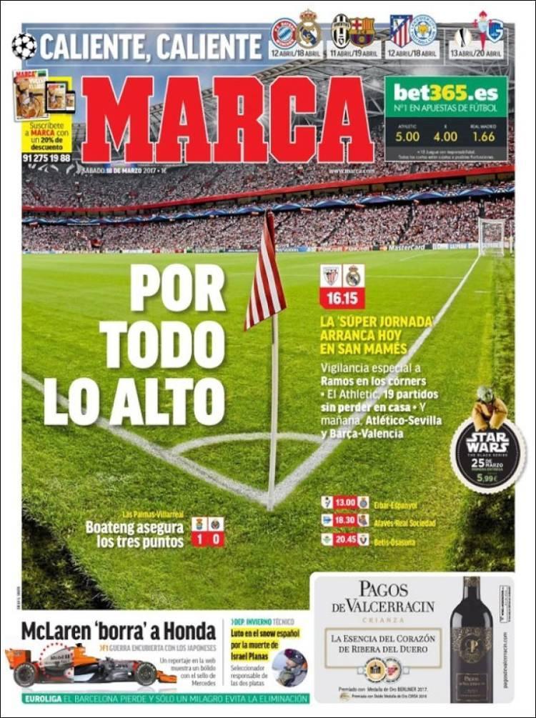 El Madrid va contra el Bilbao