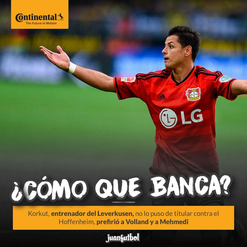 Chicharito a la banca