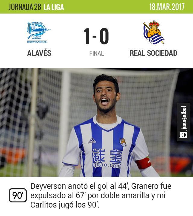 Real Sociedad pierde contra el Alavés