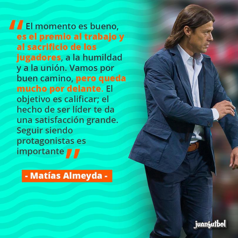 Matías Almeyda ve el liderato como un premio para su equipo