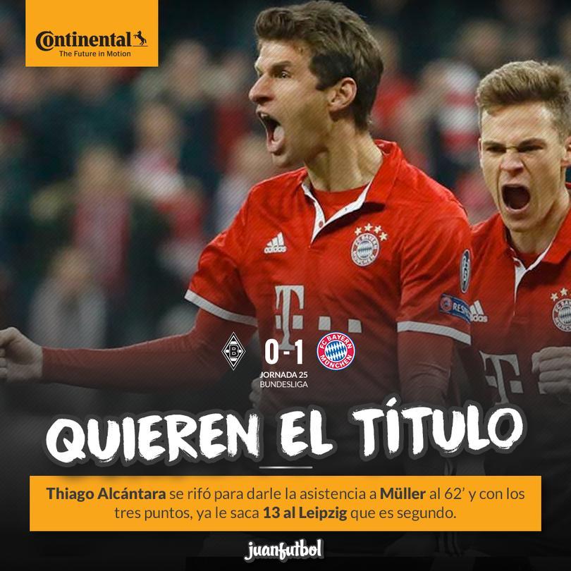 El Bayern gana y sigue firme al título