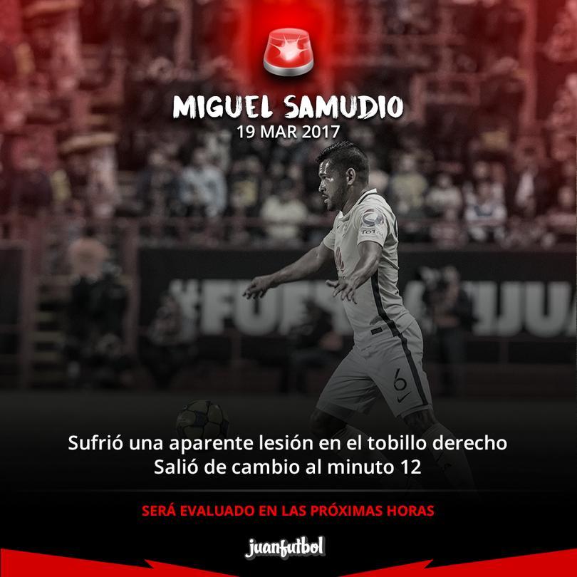 Miguel Samudio lesionado