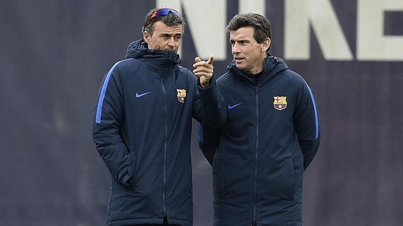El asistente de Luis Enrique y segundo entrenador del Barça se apuntó para ser el relevo para la siguiente temporada. Aprovechó un evento de bicis para tirar una indirecta.