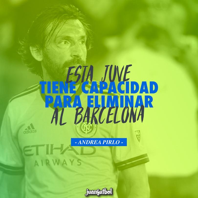 Pirlo confía en que la Juve elimine al Barcelona en los cuartos de la Champions