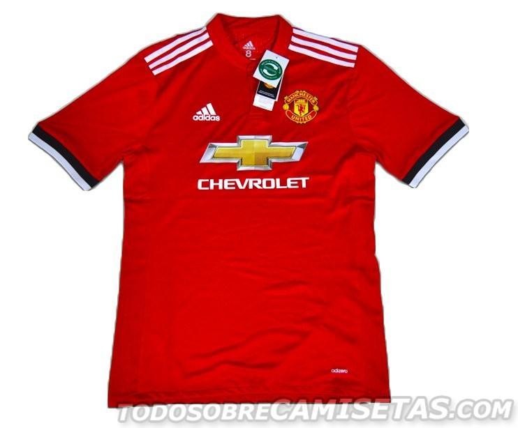 Así será la camiseta del Manchester United la siguiente temporada