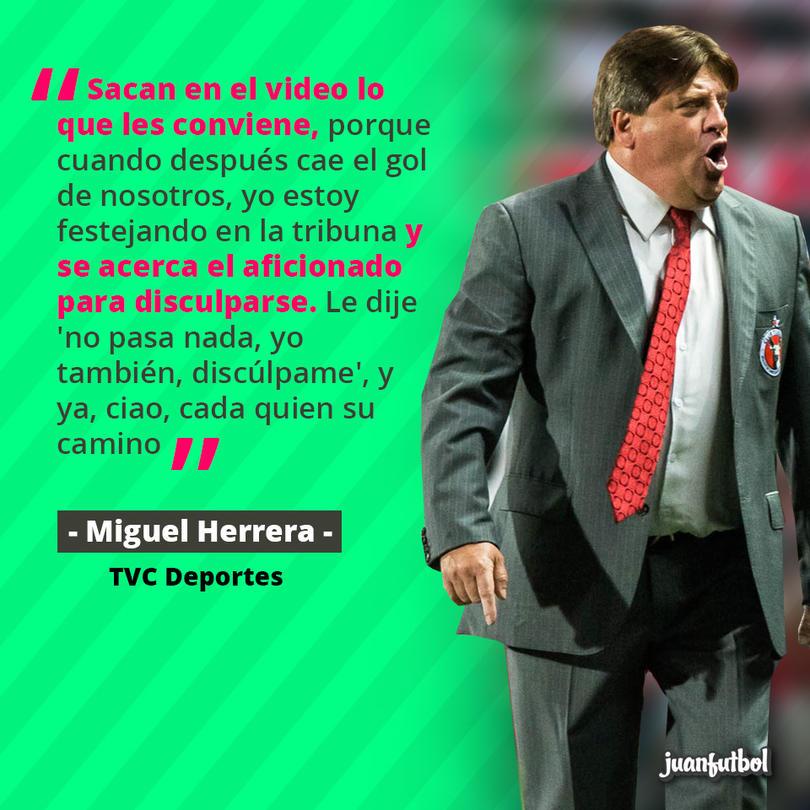 Miguel Herrera explicó que después de los insultos, ambos se disculparon