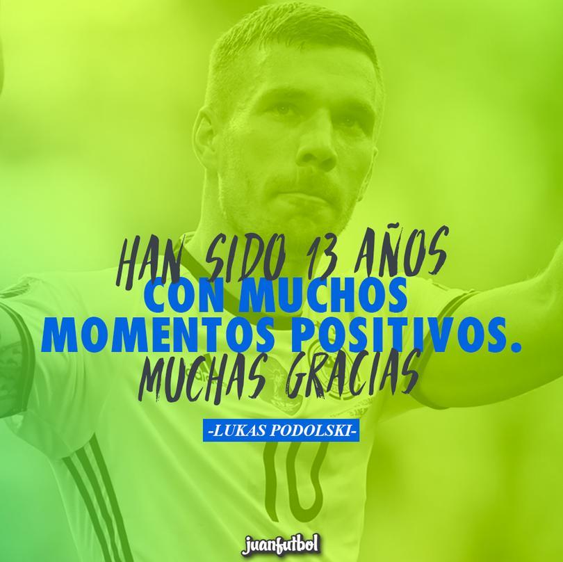Podolski, capitán de Alemania que se despide de la selección