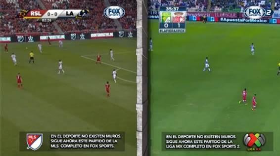 Fox Sports transmitió simultáneamente dos eventos