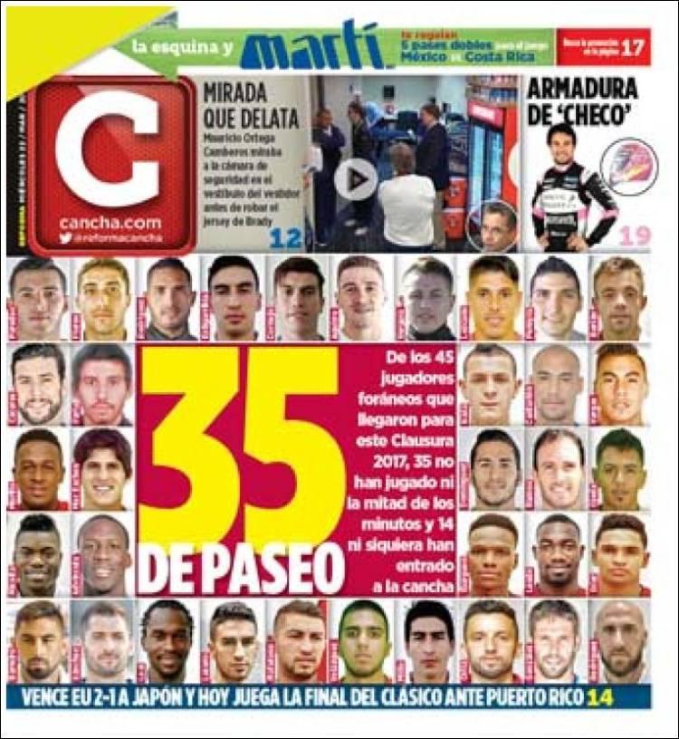 La prensa deportiva más importante del 22 de marzo del 2017.
