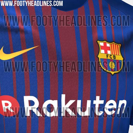 La posible playera del Barcelona para la temporada 2017-2018