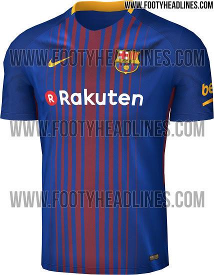 Playera del Barcelona para la temporada 2017-2018