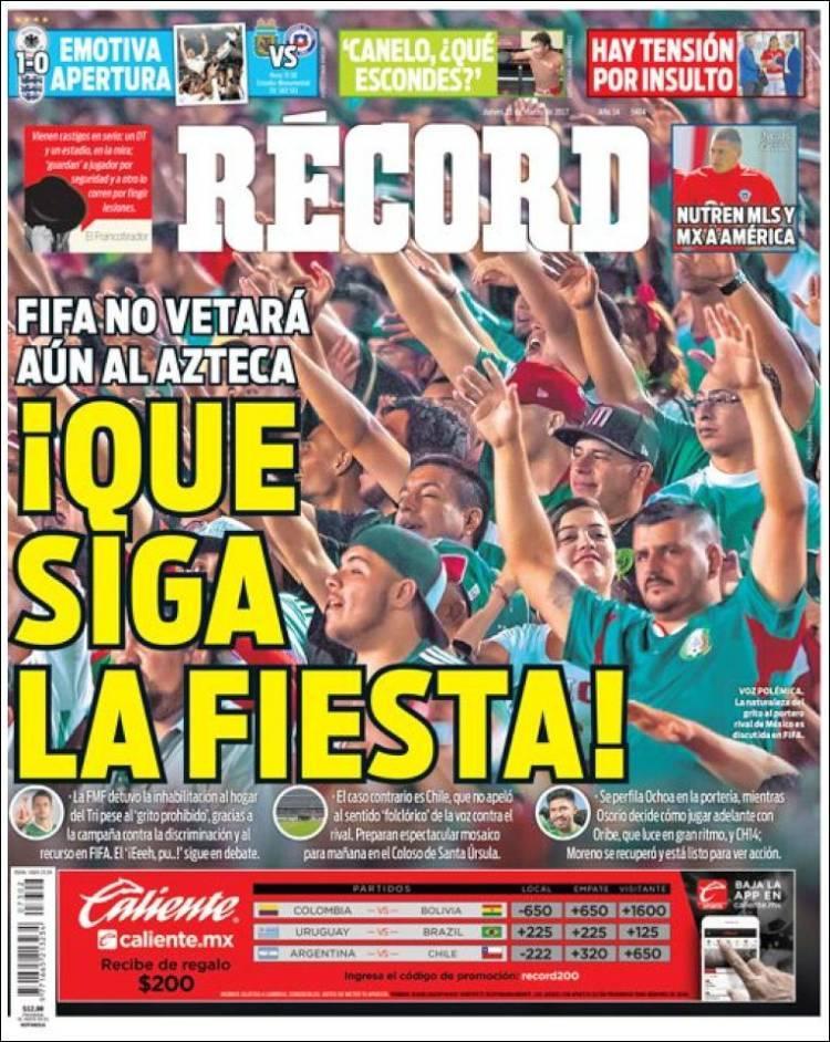La prensa deportiva más importante del 23 de marzo del 2017.