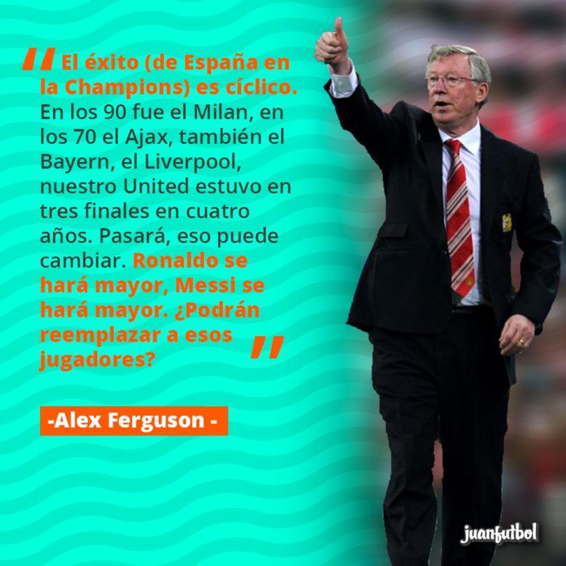 Alex Ferguson dice que no seguirá el dominio de España