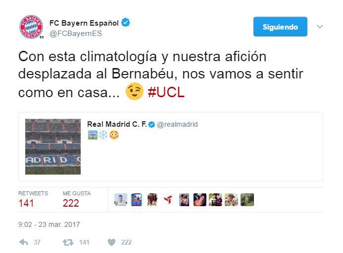Bayern Munich trolleó al Madrid