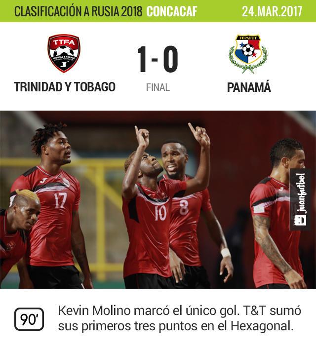 Trinidad y Tobago venció a Panamá y consiguió sus primeros tres puntos del Hexagonal