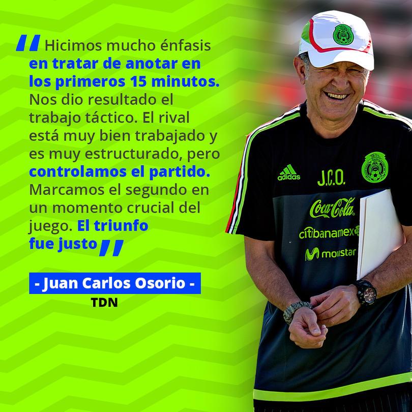 Juan Carlos Osorio destacó el trabajo táctico contra Costa Rica