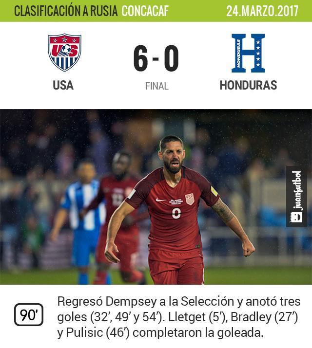 Es el primer triunfo de Estados Unidos en el Hexagonal Final