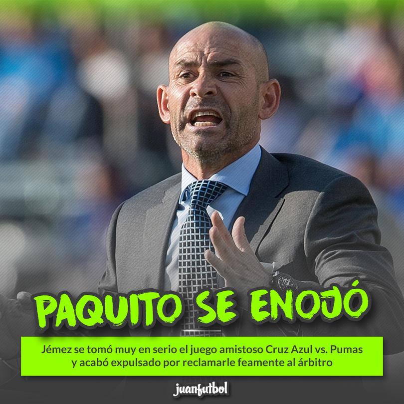 Paco Jémez reclamó muy fuerte a un árbitro y se fue expulsado