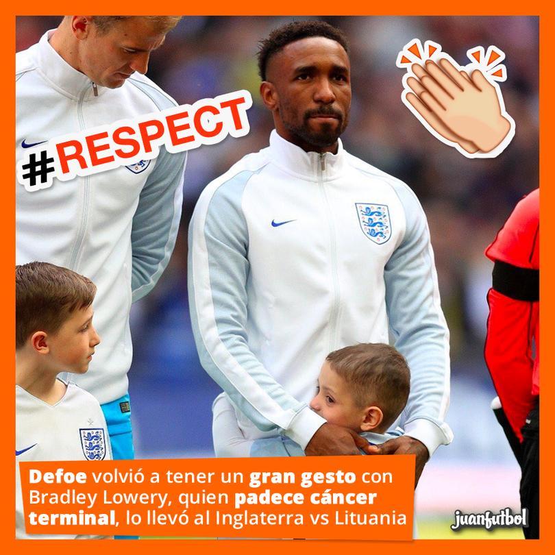 Defoe volvió a tener un gesto con el pequeño que sufre cáncer terminal.