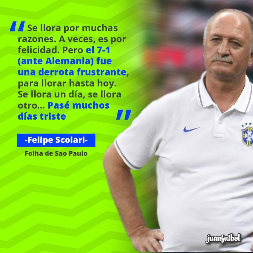 Scolari fue el técnico de Brasil en el Mundial de 2014