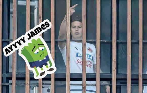 James hizo una grosería a la prensa Colombiana.