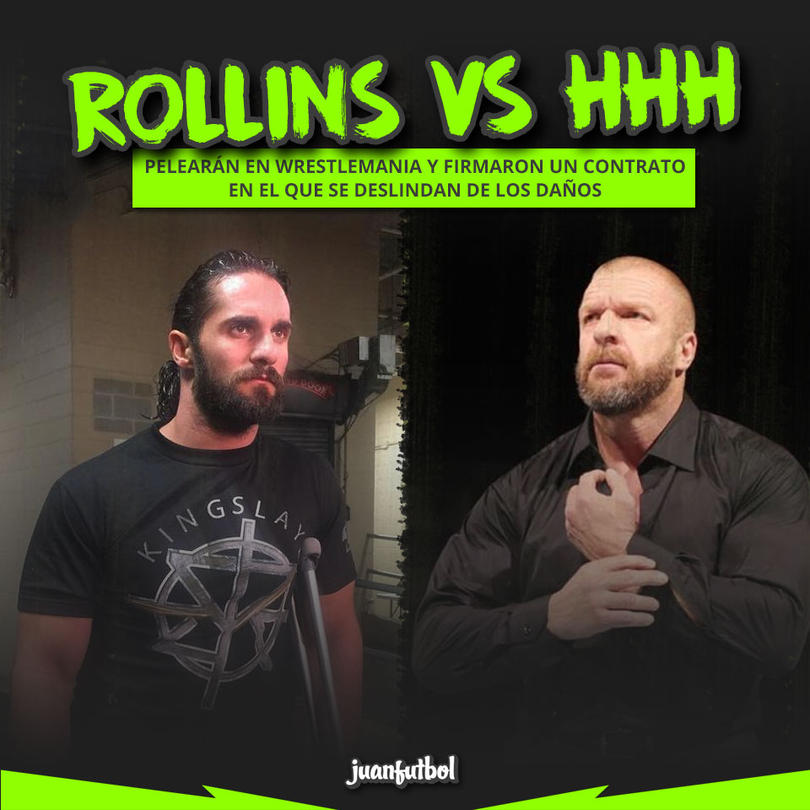 'The King' es el culpable de su lesión en la pierna derecha de Rollins.