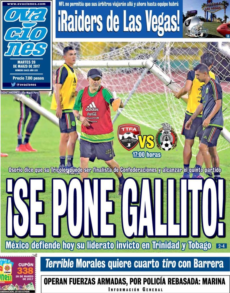 La prensa deportiva más importante del 28 de marzo del 2017.