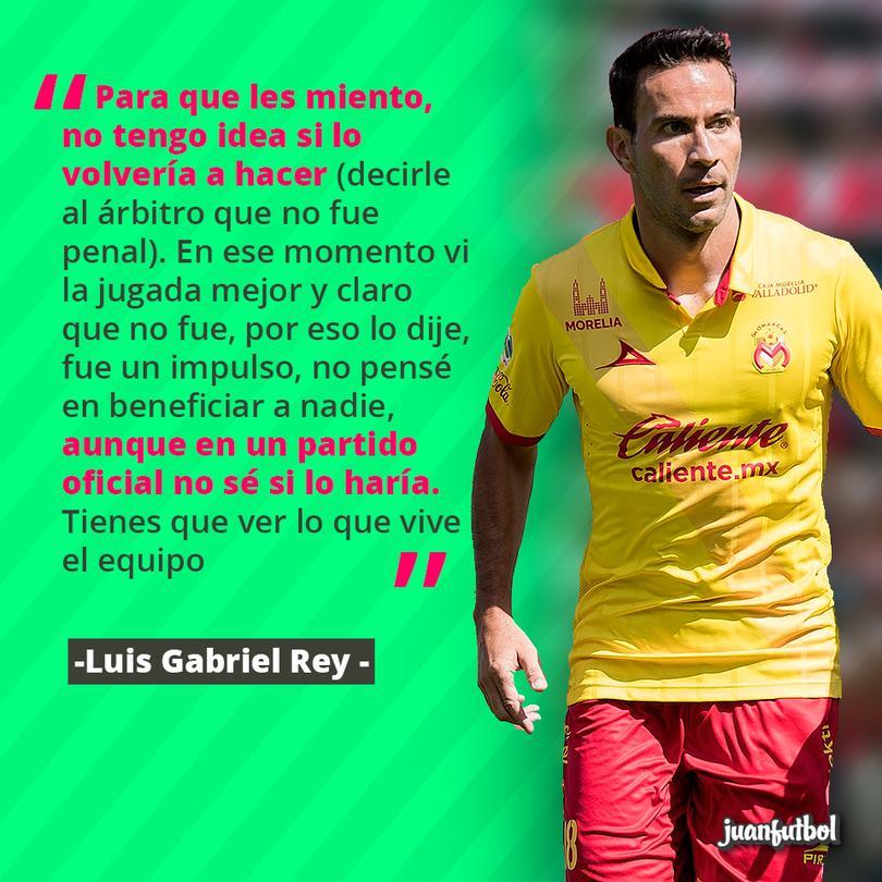 Luis Gabriel Rey no sabría si corregir al árbitro si le marca penal
