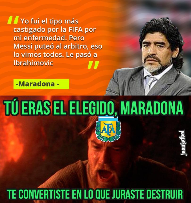 Maradona criticó a Messi