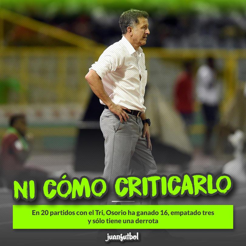 Por números, Juan Carlos Osorio ha cumplido con creces