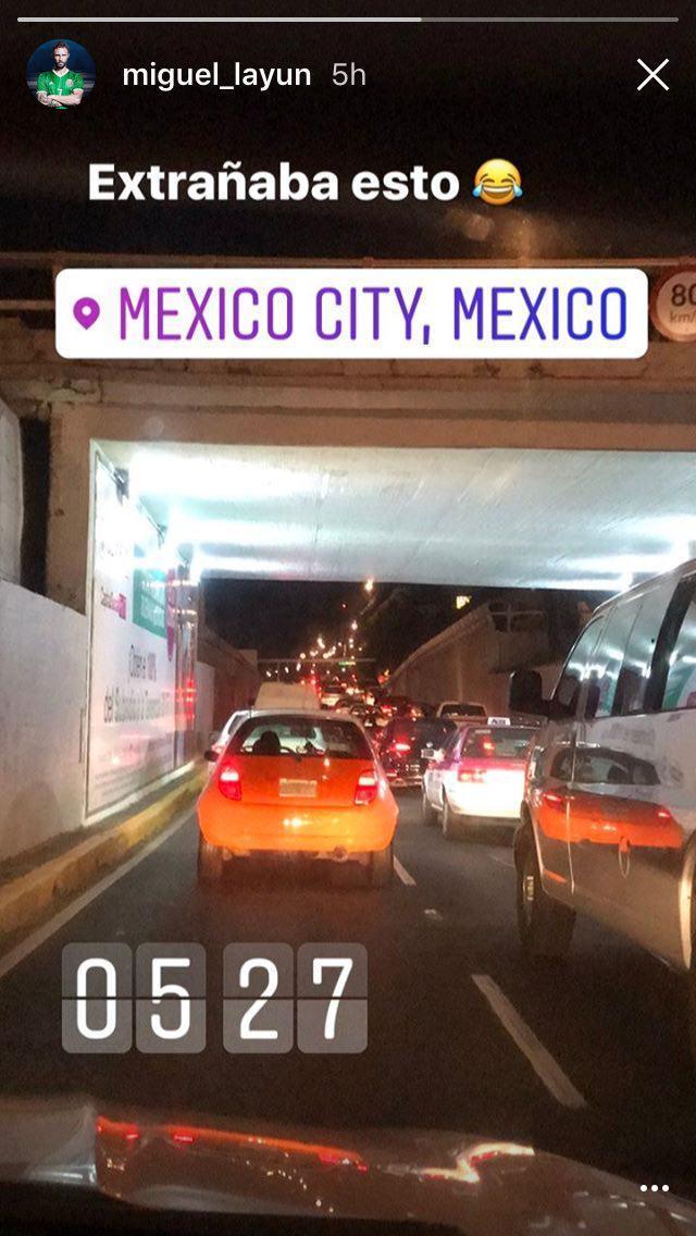 Miguel Layún extraña el tránsito de la Ciudad de México