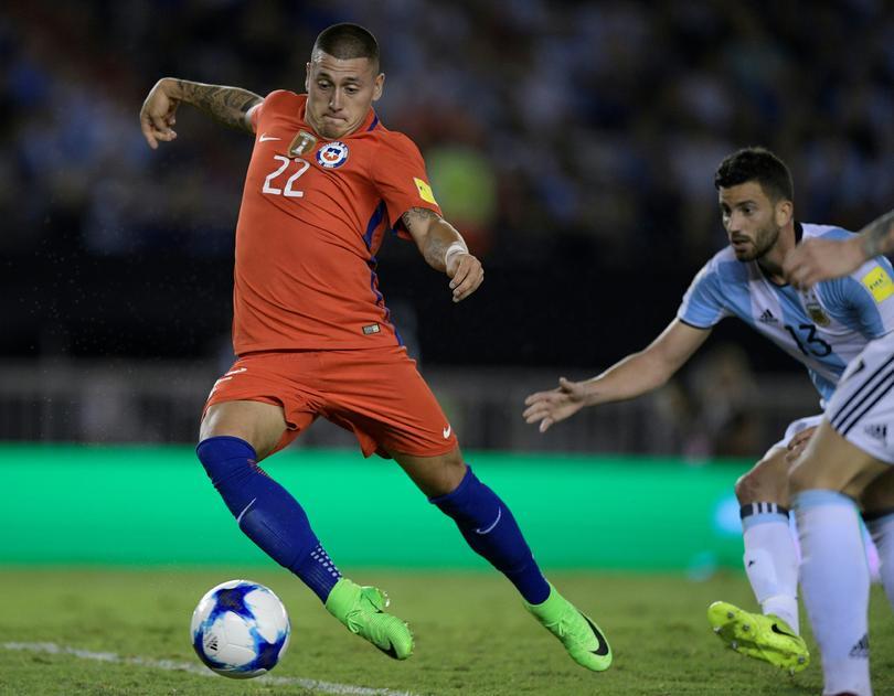 Nicolás Castillo tiene una lesión en el tobillo