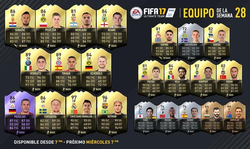Carlos Vela está en el Ultimate Team de FIFA 17 de la semana 28