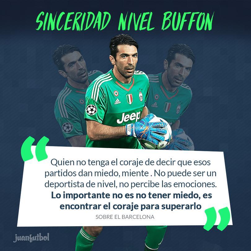Buffon habla sobre el partido de la Juve frente al Barcelona.