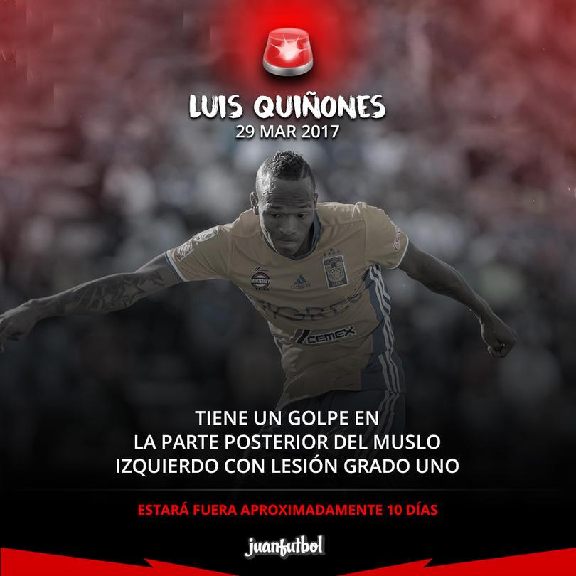 Luis Quiñones estará fuera 10 días por lesión