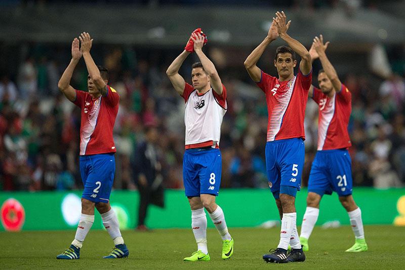 Costa Rica al terminar el partido contra la Selección Mexicana