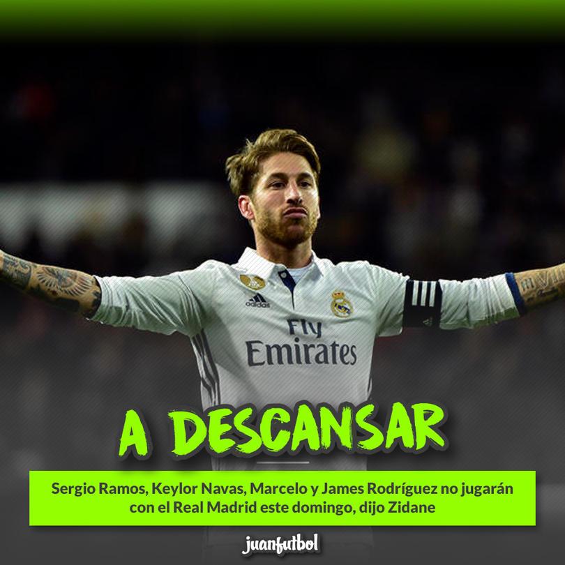 Sergio Ramos será uno de los jugadores que tendrá descanso este fin de semana