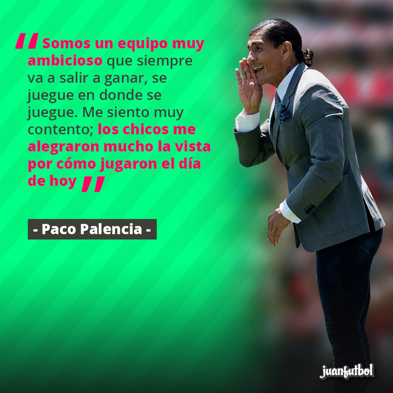 Paco Palencia aplaudió a sus jugadores por el partido que hicieron vs. Jaguares