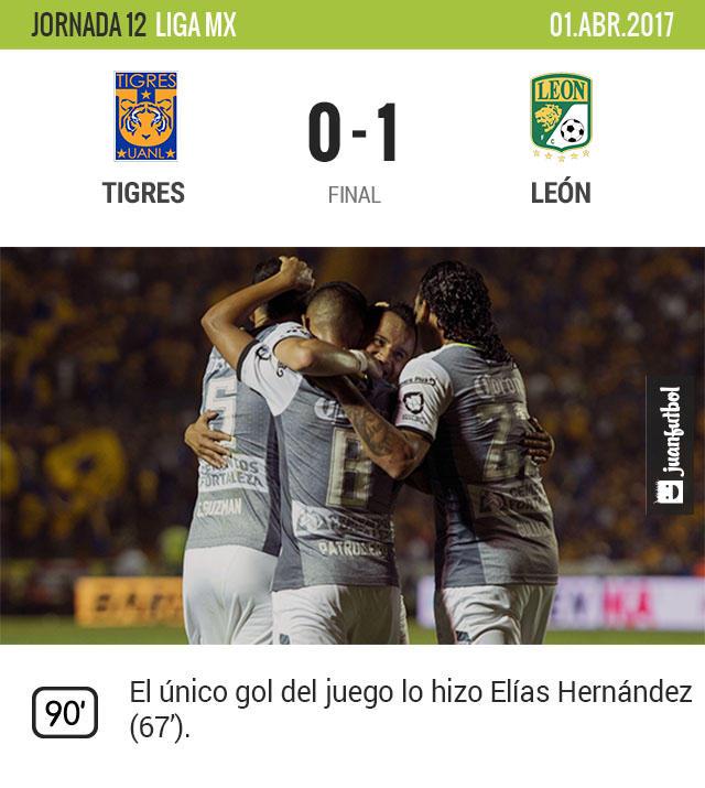 Elías Hernández fue quien marcó el único gol
