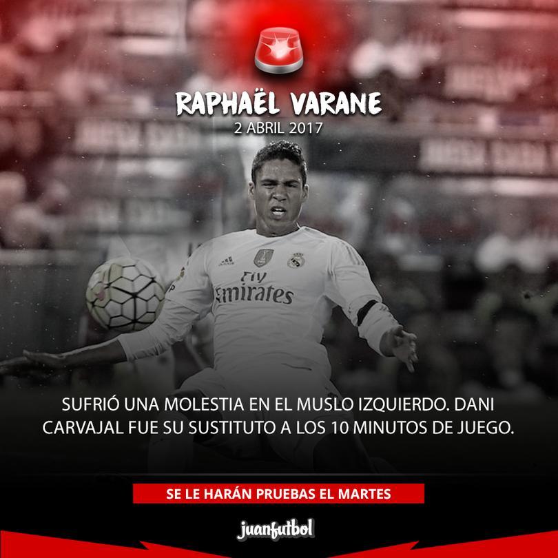 Varane se volvió a romper.