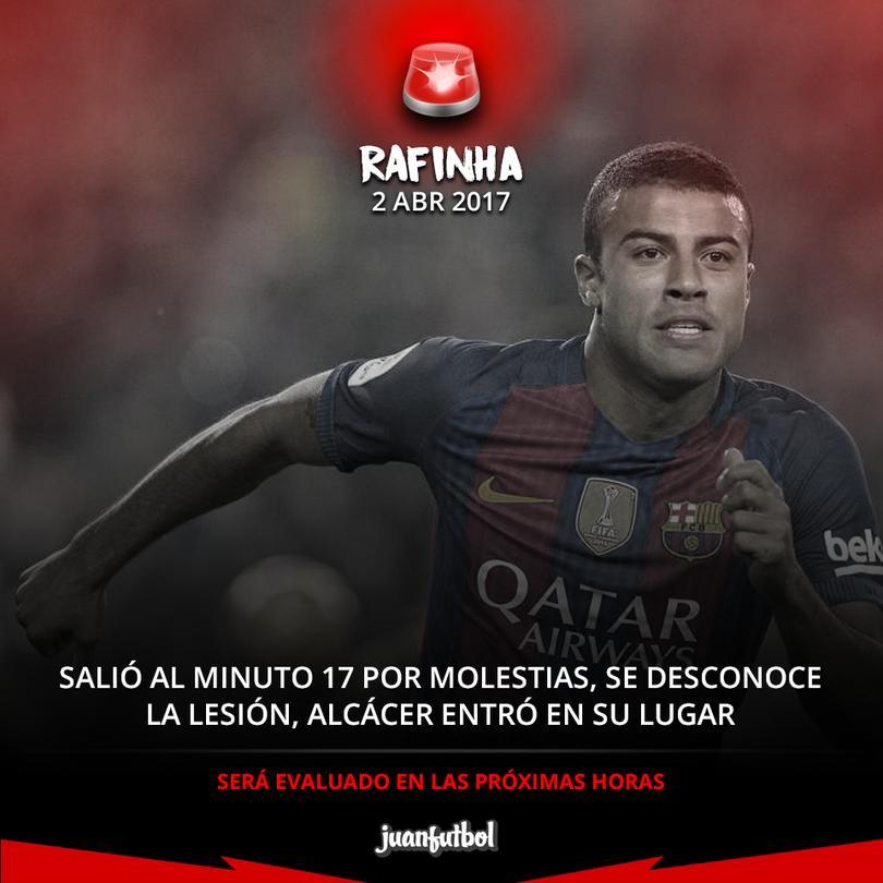 Rafinha salió lesionado contra el Granada